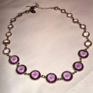 WHBM *gorgeous* purple crystal & gold necklace